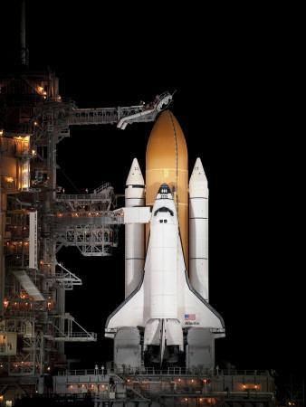Space Shuttle Atlantis Sits Ready on its Launch Pad at Kennedy Space Center, Florida