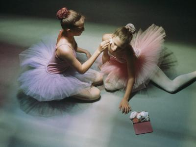Ballerinas Get Ready for a Performance