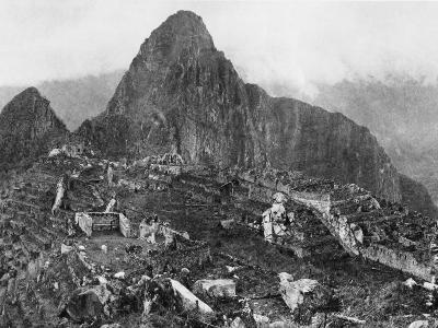 An Elevated View of About Half of the City of Machu Picchu