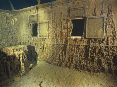 Interior of a First Class Cabin in the Shipwrecked RMS 'Titanic'