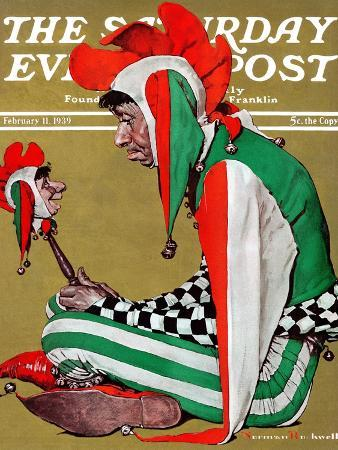 """""""Jester"""" Saturday Evening Post Cover, February 11,1939"""