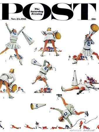 """Cheerleader"" Saturday Evening Post Cover, November 25,1961"