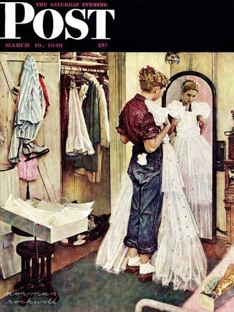 """""""Prom Dress"""" Saturday Evening Post Cover, March 19,1949"""