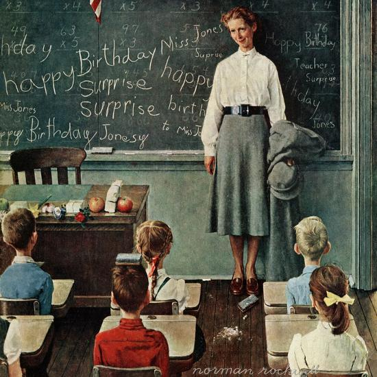 Happy Birthday Miss Jones March 17 1956 Giclee Print By Norman