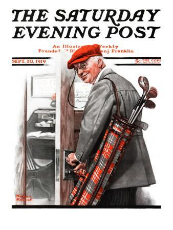"""""""Important Business"""" Saturday Evening Post Cover, September 20,1919"""