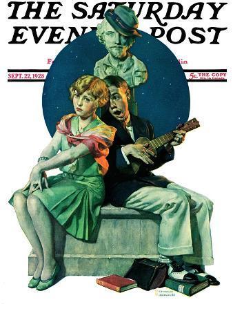 """""""Serenade"""" Saturday Evening Post Cover, September 22,1928"""