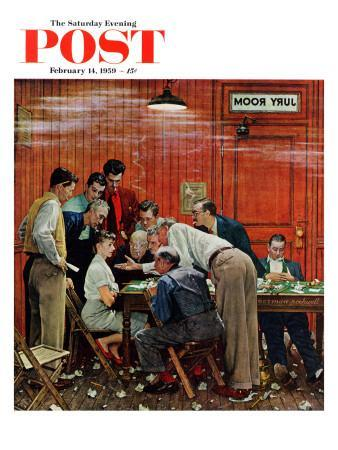 """Jury"" or ""Holdout"" Saturday Evening Post Cover, February 14,1959"
