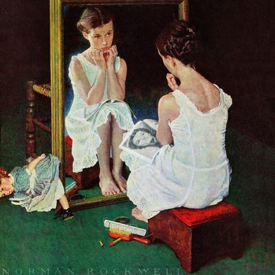 """""""Girl at the Mirror"""", March 6,1954"""