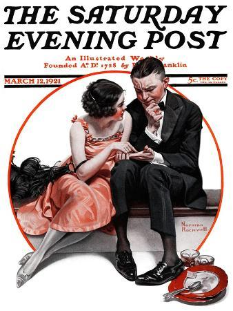 """""""Palm Reader"""" or """"Fortuneteller"""" Saturday Evening Post Cover, March 12,1921"""
