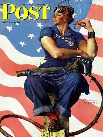 """Rosie the Riveter"" Saturday Evening Post Cover, May 29,1943"
