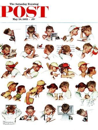"""Day in the Life of a Boy"" Saturday Evening Post Cover, May 24,1952"