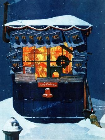 """Newsstand in the Snow"", December 20,1941"