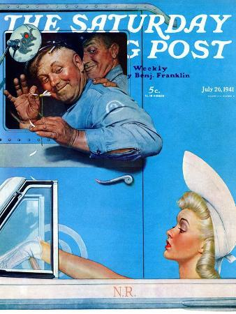"""Two Flirts"" Saturday Evening Post Cover, July 26,1941"