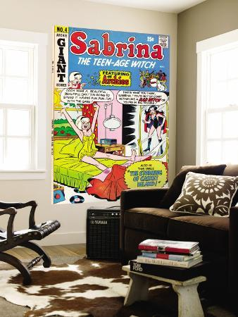Archie Comics Retro: Sabrina the Teen-age Witch Comic Book Cover No.4 featuring The Archies (Aged)