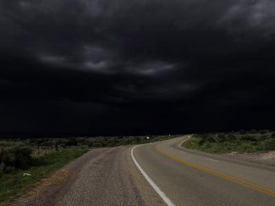 Highway 68 to Taos and Storm Clouds