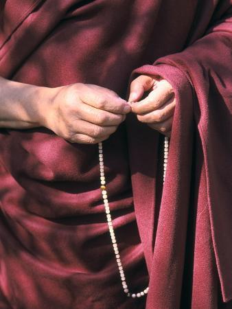 The Dalai Lama with Mala Prayer Beads