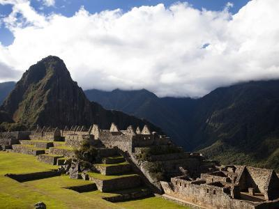 Machu Picchu, a Famous Incan Archaeological Site, in Peru