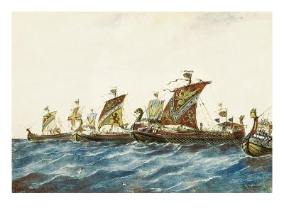 Viking Ships of the King Olaf I of Norway (995-1000)