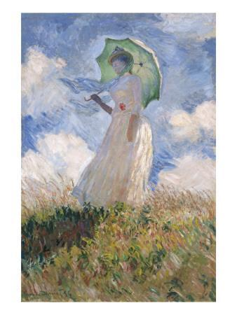 Woman with Parasol Turned to the Left