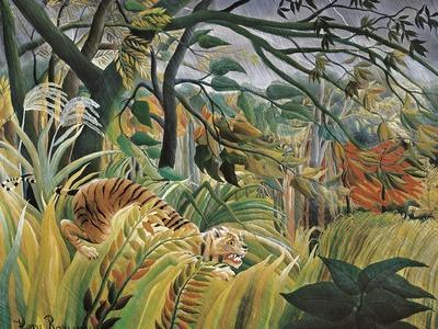 Tiger in a Tropical Storm (Surprised!)