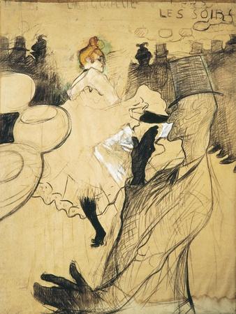 """La Goulue and Valentin Le Desosse at the """"Moulin Rouge"""""""