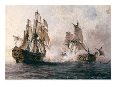 "Combat Between the Spanish ""Glorioso"" Against the British ""Darmouth"""