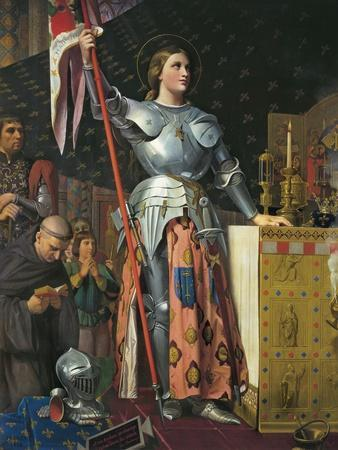 Joan of Arc on Coronation of Charles Vii in the Cathedral of Reims