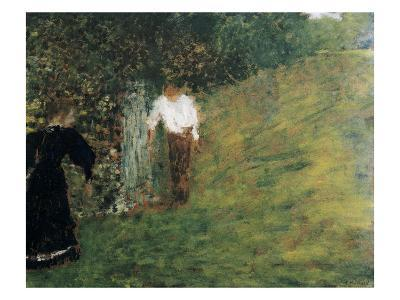 Man and Woman Next to a Tree