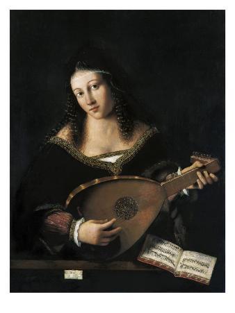 Lady Playing Lute