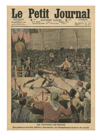 The Victory of the Negro, Jack Johnson Knocks Jim Jeffries Out at the World Boxing Championship