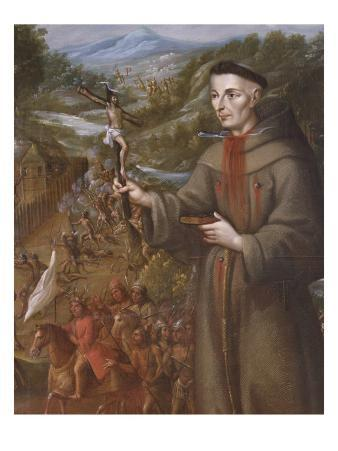 Destruction by the Indians of the Mission of St. Saba in Texas and Martyrdom of the Franciscan