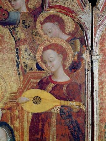 Detail of Angel Musicians from a Painting of the Virgin and Child Surrounded by Six Angels, 1437-44
