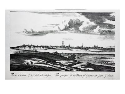 The Prospect of the Town of Glasgow from Ye South, from 'Theatrum Scotiae' by John Slezer, 1693