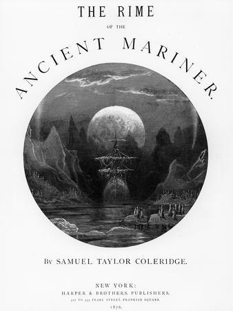 Title Page from 'The Rime of the Ancient Mariner' by S.T. Coleridge, Published by Harper and Brothe