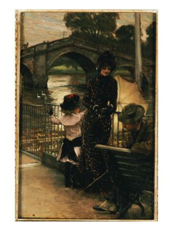The Artist, Mrs. Kathleen Newton and Her Niece, Lilian Hervey, by the Thames at Richmond, 1878-79