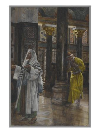 The Pharisee and the Publican, Illustration from 'The Life of Our Lord Jesus Christ', 1886-94