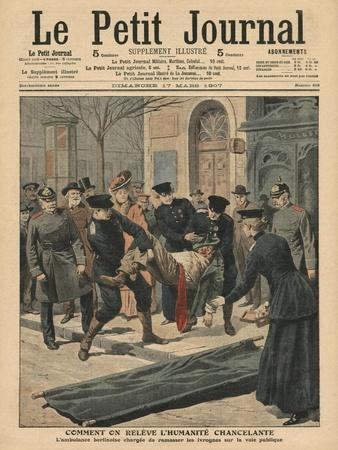 Drunkards in Berlin, Illustration from 'Le Petit Journal', Supplement Illustre, 17th March 1907