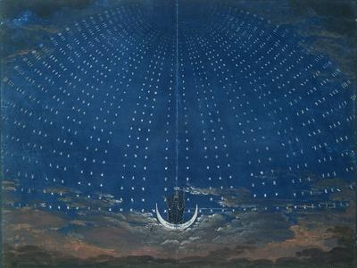 The Palace of the Queen of the Night, Set Design for 'The Magic Flute' by Wolfgang Amadeus Mozart