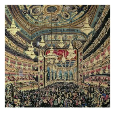 Interior View of the 'Great Lyceum' During a Carnival before the Fire Which Destroyed the Theatre