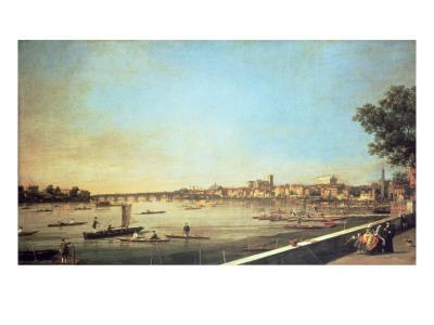 London, the Thames at Westminster and Whitehall from the Terrace of Somerset House, C.1750-51