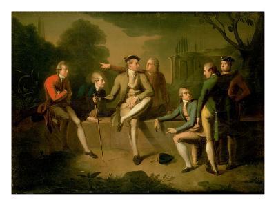Portrait of Mr. John Corbet, Tollemache, Earl Talbot, James Byres, Sir John Rous, John Staples