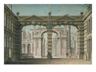 Set Design for the World Premiere Performance of 'Idomeneo', by Wolfgang Amadeus Mozart in Munich