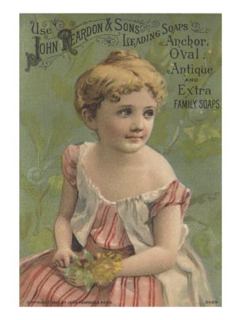 Advertisement for John Reardon and Sons Leading Soaps: Anchor, Oval, Antique and Extra Family Soaps