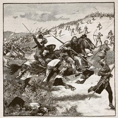 Charge of the Scots at Homildon Hill, Illustration from 'Cassell's Illustrated History of England'