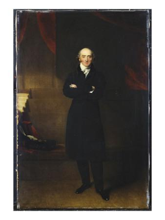 Portrait of George Canning, Full Length, Wearing a Black Coat in an Interior with His Arms Folded