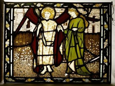 Amor and Alcestis, Morris and Co. Panel from the 'Legend of Good Wimmen' by Geoffrey Chaucer, 1864