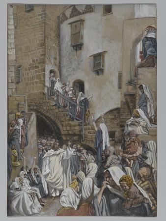 A Woman Cries Out in the Crowd, Illustration from 'The Life of Our Lord Jesus Christ', 1886-94