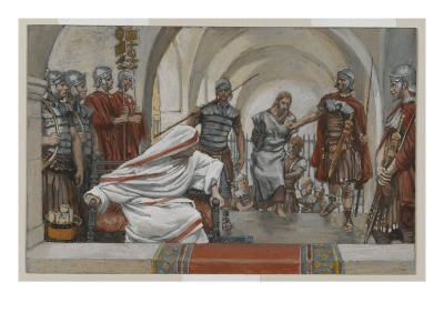 Jesus Led from Herod to Pilate, Illustration from 'The Life of Our Lord Jesus Christ', 1886-94