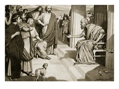 Socrates Addressing the Athenians, Illustration from 'Hutchinson's History of the Nations', 1915