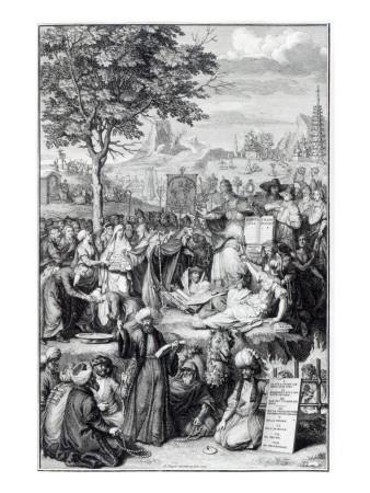The Principle Religions of the World, Illustration from 'Religious Ceremonies and Customs', 1727